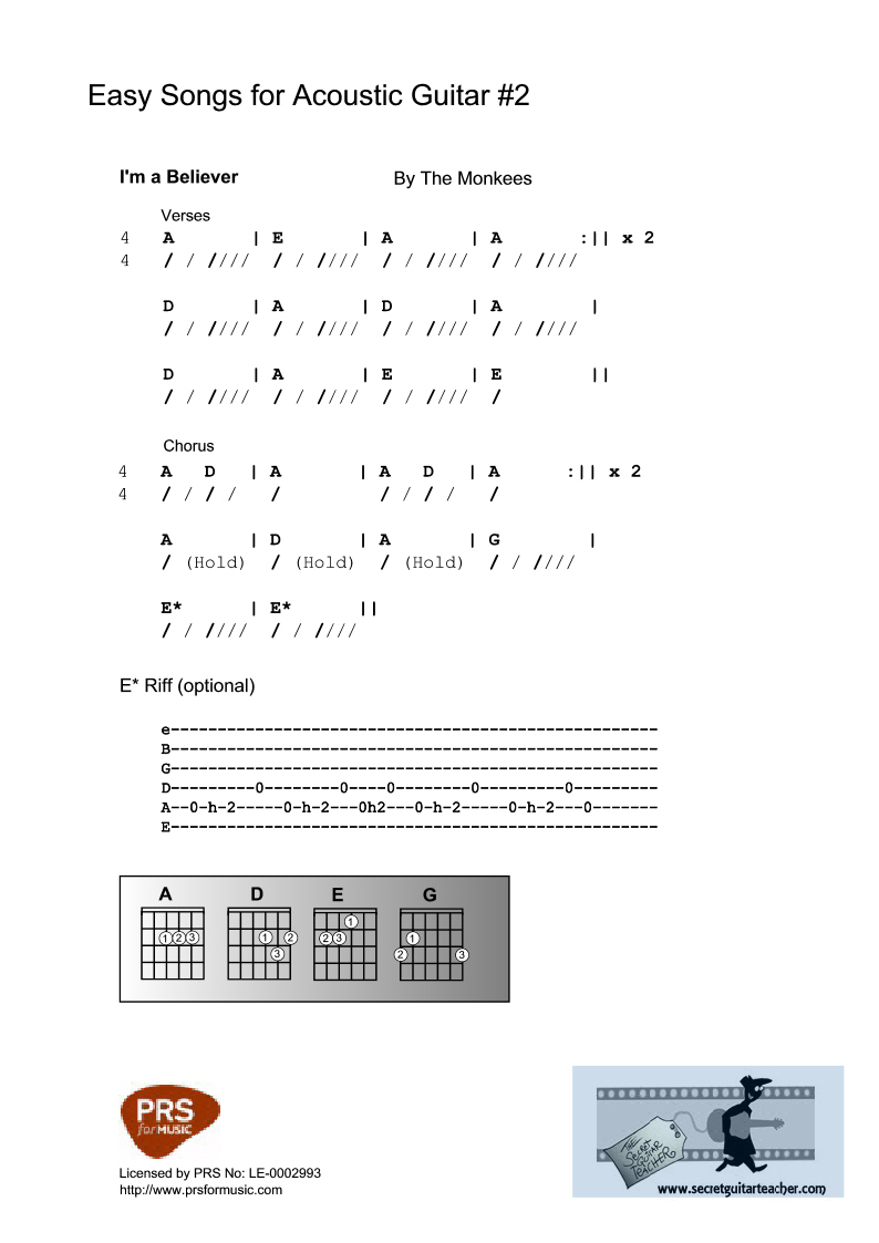 Printable Easy Tabs For Electric Guitarhtml In Qytajogithubcom The Secret Guitar Teacher Dounloadable Courses Beginners Source Code Search Engine